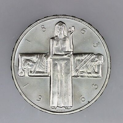 1963 B Switzerland 5 Francs SILVER Coin