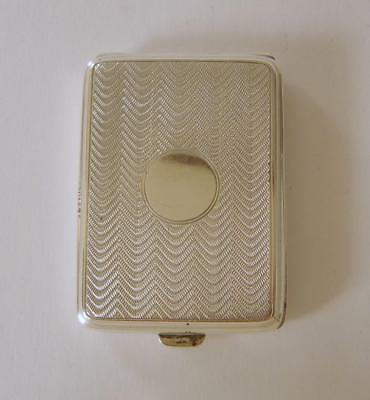 A Good Quality Sterling Silver Matchbook Case Birmingham 1924 43 Grams
