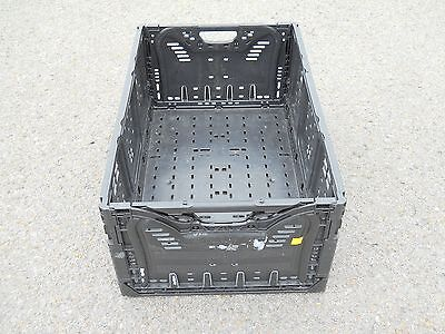 """Plastic Stacking Crates Lugs Bins Baskets Folding Collapsible 25N, 10 1/4"""""""