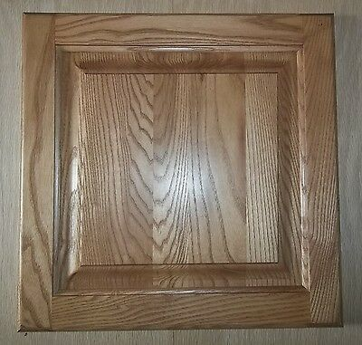 """Pair Of 14 1/2"""" X 28"""" Square Raised Panel Ash Cabinet Doors, Solid Wood"""