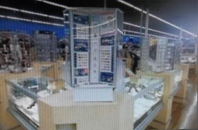 Jewelry Showcase Display System Complete Maple Finish Retail Store, Ok1