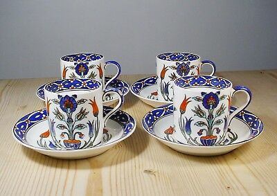 Paragon China Old Rhodian Four Cups & Saucers - Soane & Smith