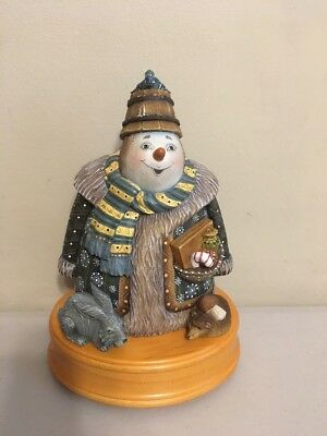 G. DeBrekht 2002 Musical Forest Friends Series - Holiday Picnic Snowman
