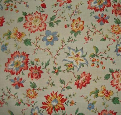 BEAUTIFUL VINTAGE FRENCH 1930s COTTON, SMALL SCALE DESIGN, PROJECTS, DOLLS, REF