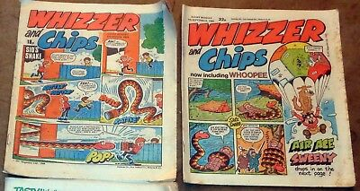 JOB LOT!! 3 x 1984 - 1985  'WHIZZER and CHIPS' BRITISH COMICS: POSTAGE DISCOUNT