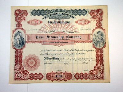 Lake Steamship Co., ca.1900-1920 Unissued Stock Certificate