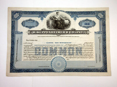 B. Kuppenheimer & Co., Inc., ca.1920-1930 Proof Stock Certificate