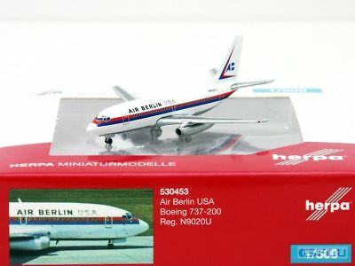 Herpa 1:500 530453 Air Berlin USA Boeing 737-200 - NEU!