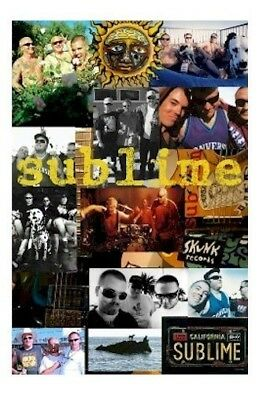 SUBLIME ~ COLLAGE 24x36 MUSIC POSTER Brad Nowell Dog Eric Wilson Bud Gaugh