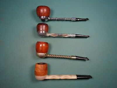 Lot of 4 Estate System Pipes With Removable Bowls