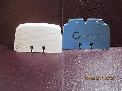 """Lot of 70 Printed White ROLODEX Index Cards - 2 1/4"""" x 4"""" + 24 A-Z Index Tabs"""