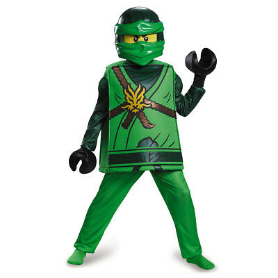 Lloyd Deluxe Ninjago Green LEGO Child Costume | Disguise 98099