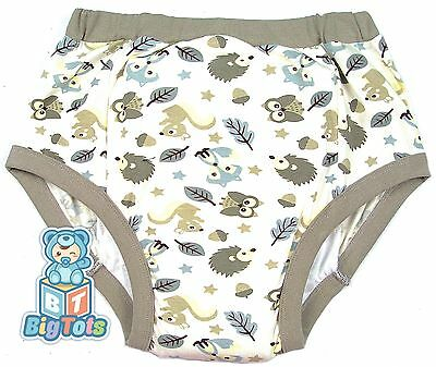 BIG TOTS FOREST ANIMALS adult  training pants baby style*