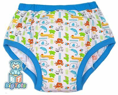 Big Tots  6 sizes JUNGLE ANIMALS adult size  training pants baby print