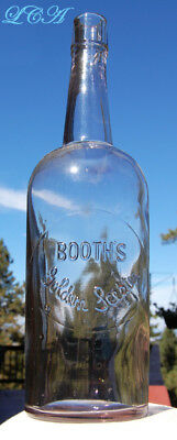 PRISTINE and RARE old BUTTE MONTANA whiskey bottle BOOTH'S GOLDEN SCEPTER