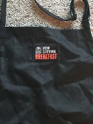 """NEW Black Taco Bell """"NOW SERVING BREAKFAST"""" Apron One Size Fits All"""