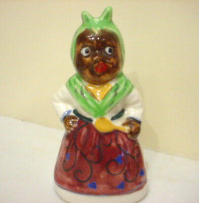 Vintage Black Americana MAMMY Salt Pepper Shaker JAPAN w Cork Stopper SINGLE