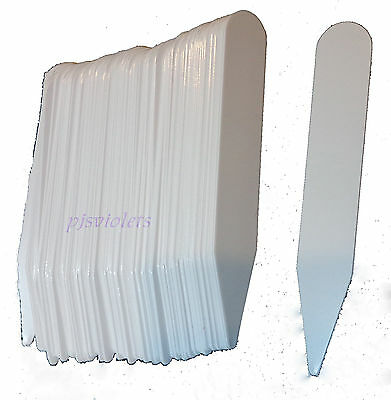 200 White Plastic Plant Labels Tags / Stakes 4 inches  x 1/2 inches Made in USA