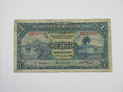 Government of Trinidad and Tobago 1939 $1 Issued Fine  TDLR