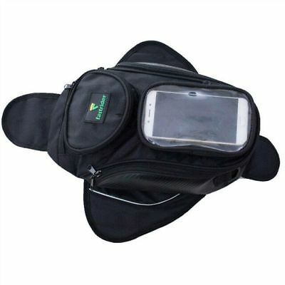 Black Oil Fuel Tank Bag Magnetic Motorcycle saddle Bag Bigger Window Moto