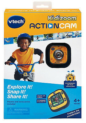New* Vtech Kidizoom ActionCam/Camera 2.5 Hrs Recording Color LCD Screen Lot#EB13