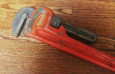 "Ridgid 36"" Heavy Duty Pipe Wrench Ridge Tool Company USA - Excellent"