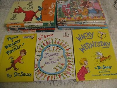 Lot of 16 DR. SEUSS Hardcover Collection Set of Beginner Books