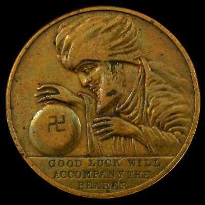 1930s Swami Fortune Good Luck Token - All Seeing Eye Guards You from Evil