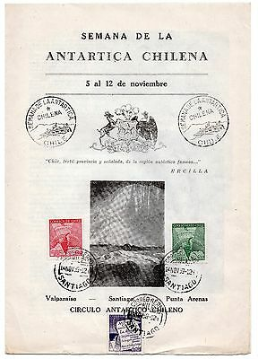 CHILE 1959 RARE Antartic week brochure  Antartica Penguin must see