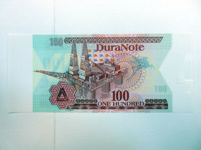 Duranote Polymer Advertising Test Note 1980-90's Oil Rig Triangles Gem UNC