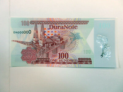 Duranote Polymer Advertising Test Note 1980-90's Oil Silver Foil Flowers Gem UNC