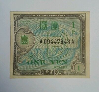 JAPAN ONE 1 YEN 1945 WWII Allied Military Currency XF+ SERIES 100 1B