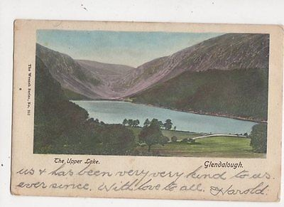 The Upper Lake Glendalough Ireland 1906 Postcard 321a