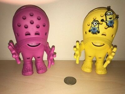 CROCS Shoe Co. Advertising CROSLITE GUYS Dolls Toys - Pink and Yellow  RARE