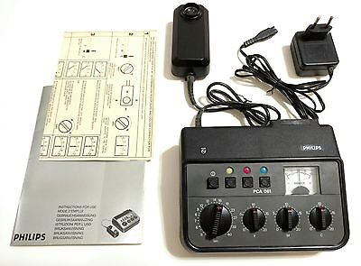 Vintage PHILIPS PCA-061 Electronic COLOUR ANALYZER w/ European Power Adapter