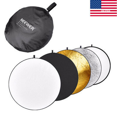 NEEWER 32inch  5 in 1 Photo Round Studio Collapsible Reflector Light Diffuser US