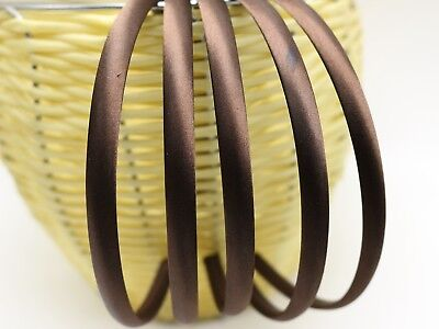 10 Brown Plastic Headband Covered Satin Hair Band 9mm for DIY Craft
