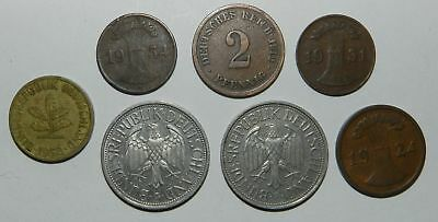 Group Of 7 Old German Coins