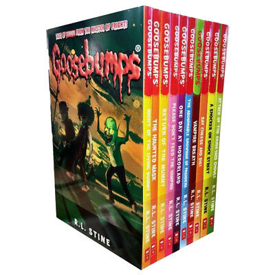 Goosebumps Series By R L Stine 10 Books Collection Set One Day at Horrorland NEW