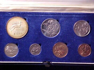 South Africa 7-Coin Proof Set 1967 Nice In Case With Silver Rand Coin