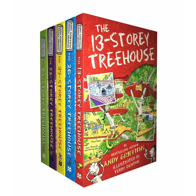Andy Griffiths Treehouse Books Series Collection 5 Books Set 13-Storey BRAND NEW