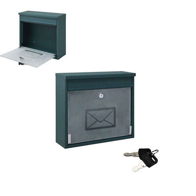 Hot Iron Mailbox Message Storage Letter Safe Post Box Home Security Key Lock