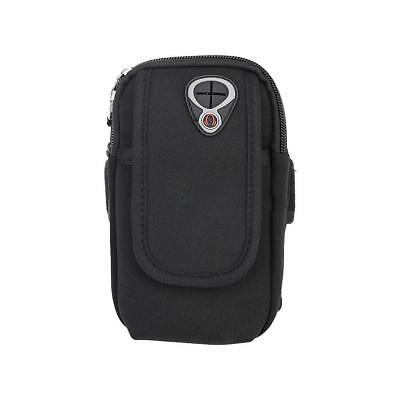 Universal Sports Jogging Gym Arm Band Pouch Bag Case For iPhone 8 6s 7 Plus BLK