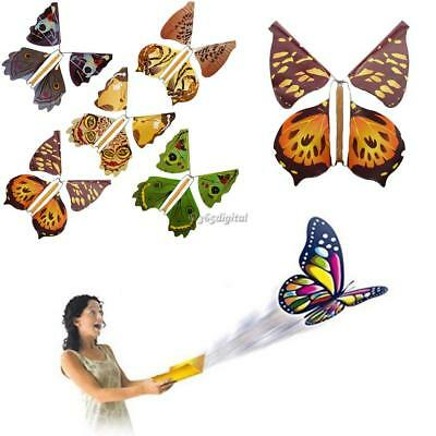 1PC Prank Flying Butterfly Flying Fluttering Toys Gifts Birthday Wedding Party