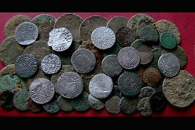 56 Old Coins - Metal Detecting Finds ( Lot 3 )