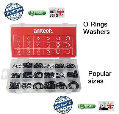 225pc Rubber O-Ring Tap Washers Gasket Seal Assorted plumbing & Petrol Diesel