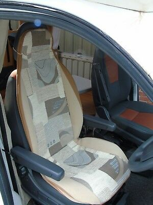To Fit Fiat Ducato Motorhome, Seat Covers, Sample 12