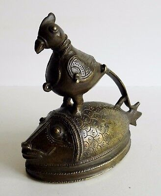 Very Unusual Old Bronze Sculpture - Mythical Bird & Fish - Persian / Islamic ?