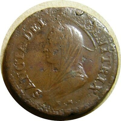 elf Vatican Papal States 5 Baiocchi 1797 Emergency Coinage Napoleonic Wars