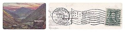 No 344- Very Clear Postmark  From Hudson 1907 On Tuck Postcard-Kirkstone Pass